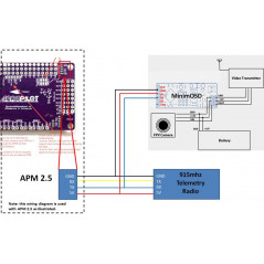 Minim OSD Mavlink per F.C. APM 2.6