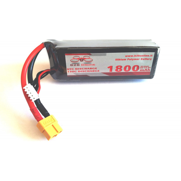 B2B Drone - Batteria LIPO 1800mAh 14.8V 65C 4S1P