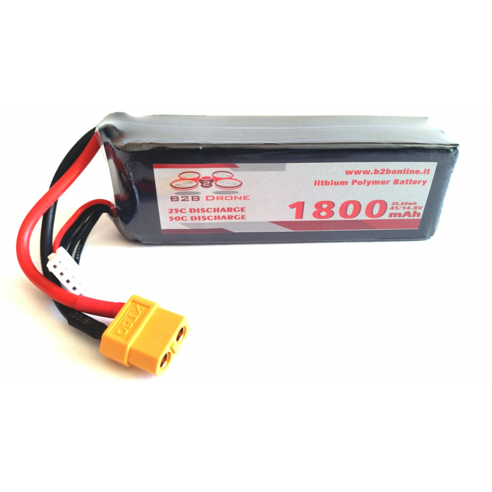 B2B Drone - Batteria LIPO 1800mAh 14.8V 25C 4S1P