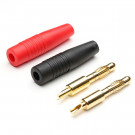 Amass Set Plug Banana 4mm con guaina Rossa e Nera
