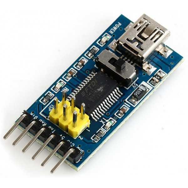 Programmatore FTDI - USB-TTL 3.3-5V - FT232 per Arduino