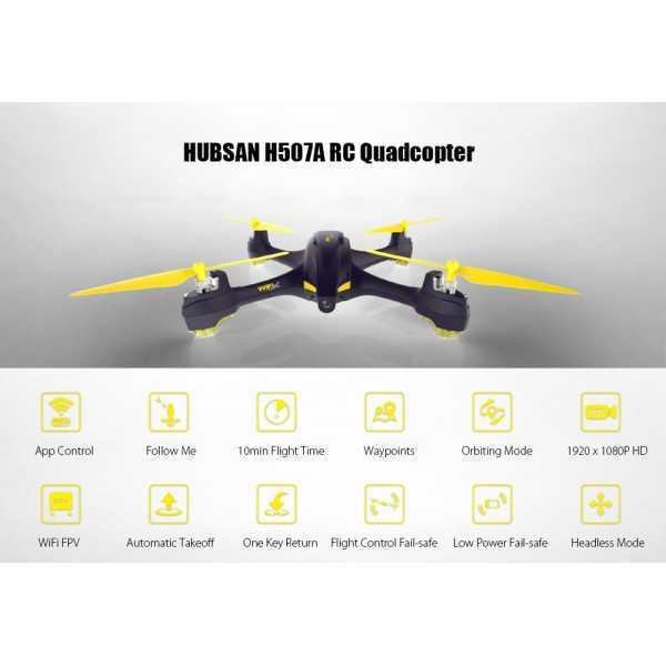 Hubsan - H507A - X4 Star Pro - Wi-Fi FPV - Camera 702p HD - App Compatibile