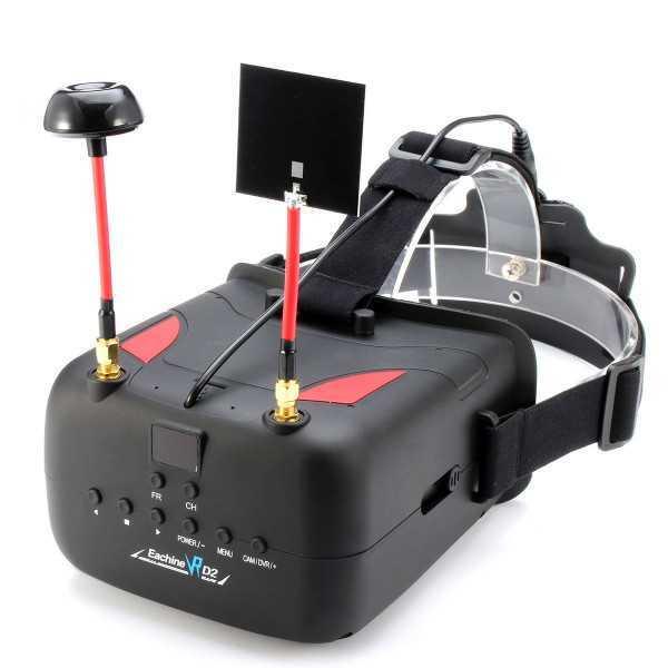 Eachine - VR D2 FPV Goggles 5 Pollici 800*480 5.8 GHz 40CH RaceBand Diversity - Funzione DVR