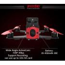 Eachine Racer 130 con NAZE32 - Cam FPV 700TVL - Action Camera HD 720p - RTF (Pronto al volo)