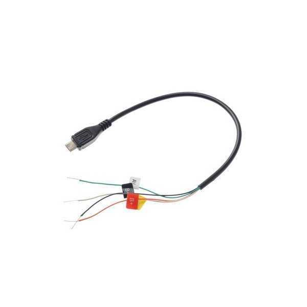 Cavo FPV Micro USB AV-OUT (Dritto) per Action Cam SJCAM SJ4000 SJ4000 WiFi SJ4000+ o simili