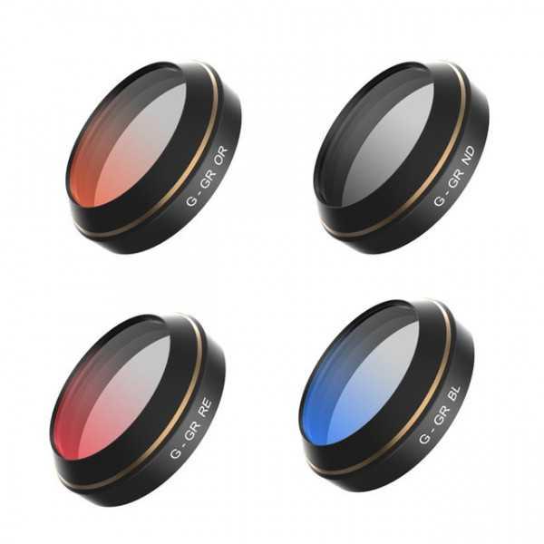DJI Mavic Pro - Set n. 4 Pz. Filtri Graduali - Rosso, Blu, Arancione, Grigio