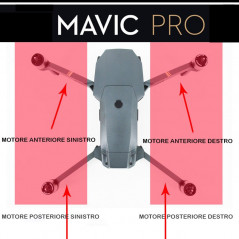 DJI Mavic Pro - Motore e Frame posteriore sinistro (GKAS)