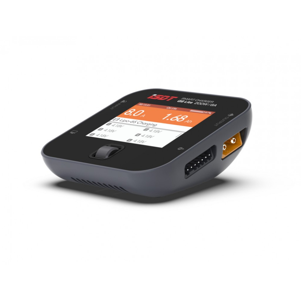iSDT Q6 Lite 200W 8A Mini Pocket Balance Charger – Colore Grigio