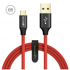 BlitzWolf - Cavo USB - Micro USB 1.8M - Rosso