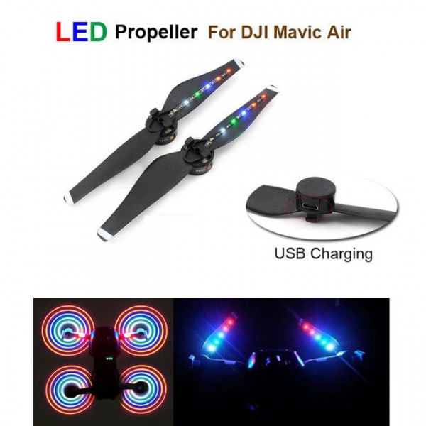DJI Mavic Air - Set Eliche (CW - CCW) con LED Multi colore