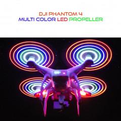 DJI Phantom 4 - Set Eliche (2 CW - 2 CCW) con LED Multi colore