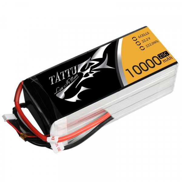 Tattu 10000MAH 22.2V 25C 6S1P LIPO BATTERY PACK