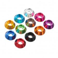 Suleve - Set M3AN6 10 Pz. Rondelle coniche in alluminio M3 - vari colori