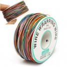 Daniu - Bobina da 250MT con 8 cavi 30AWG multi colori e guaina isolante