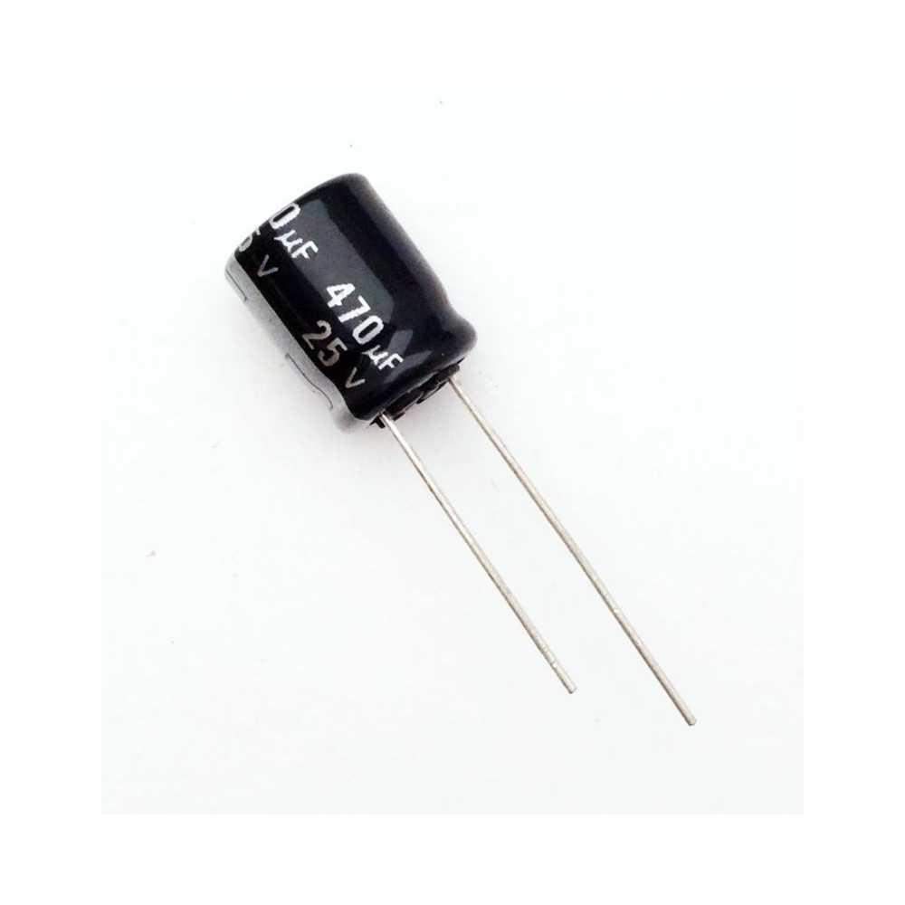 Condensatore elettrolitico 25V - 470uF - 105°C
