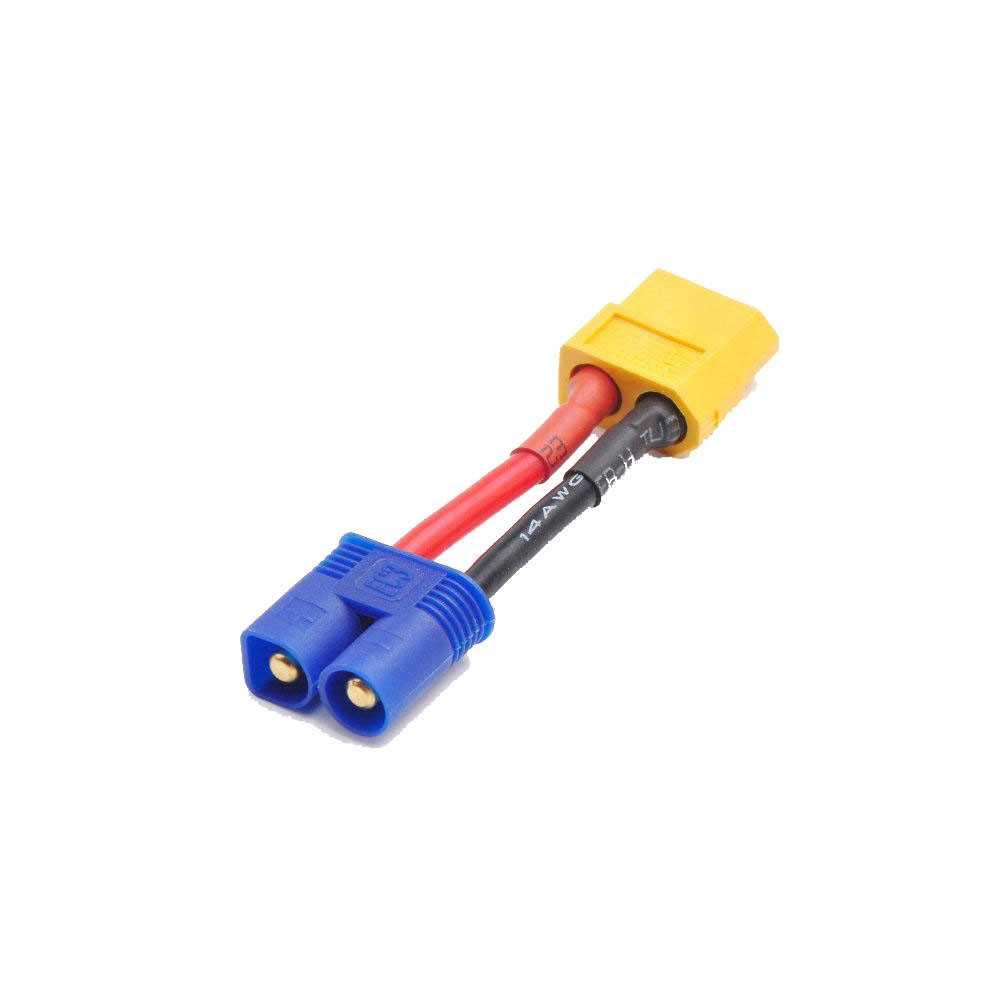 Adattatore  da XT60 a EC3 - 3CM - Maschio - Femmina - Cavo 14AWG - per Batterie LiPo