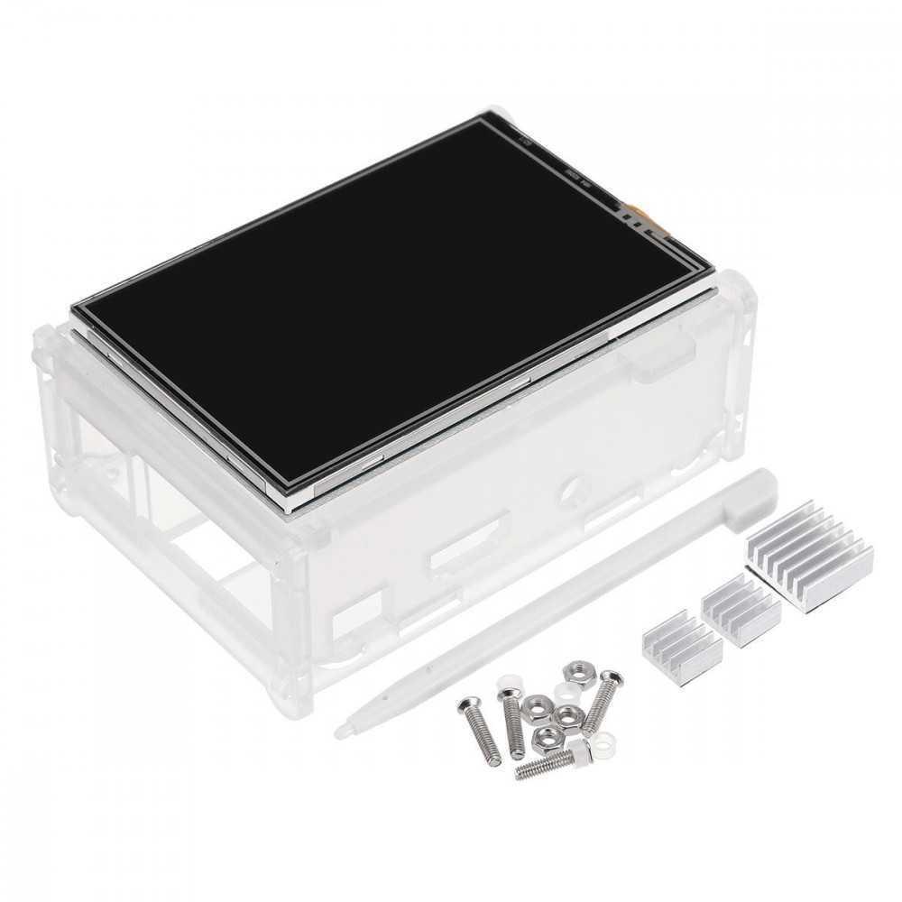 "Display TFT LCD Touch Screen 3.5"" per Rapsberry Pi 3/2/3 Model B/3 Model B+ con Kit Penna - Custodia e Dissipatori"