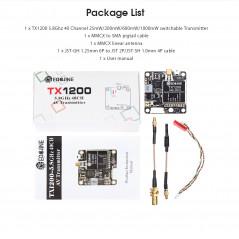 Eachine - TX1200 VTX 25/200/600/1000mW 5.8GHz 40CH con MIC