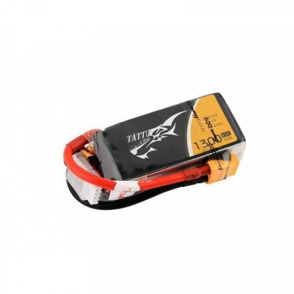 TATTU 1300mAh 14.8V 45C 4S1P Lipo Battery Pack