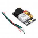 URUAV - UR6 5V 110dB Mini Buzzer Tracker con batteria Li-Po e LED per Droni Racer