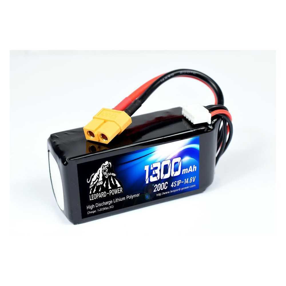 Leopard Power - Batteria 200C 14.8V 4S1P LiPo - 1300mAh - XT60