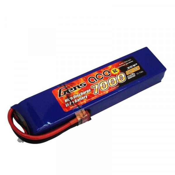 Gens ace 7000mAh 11.1V 40C 3S1P Lipo Battery Pack