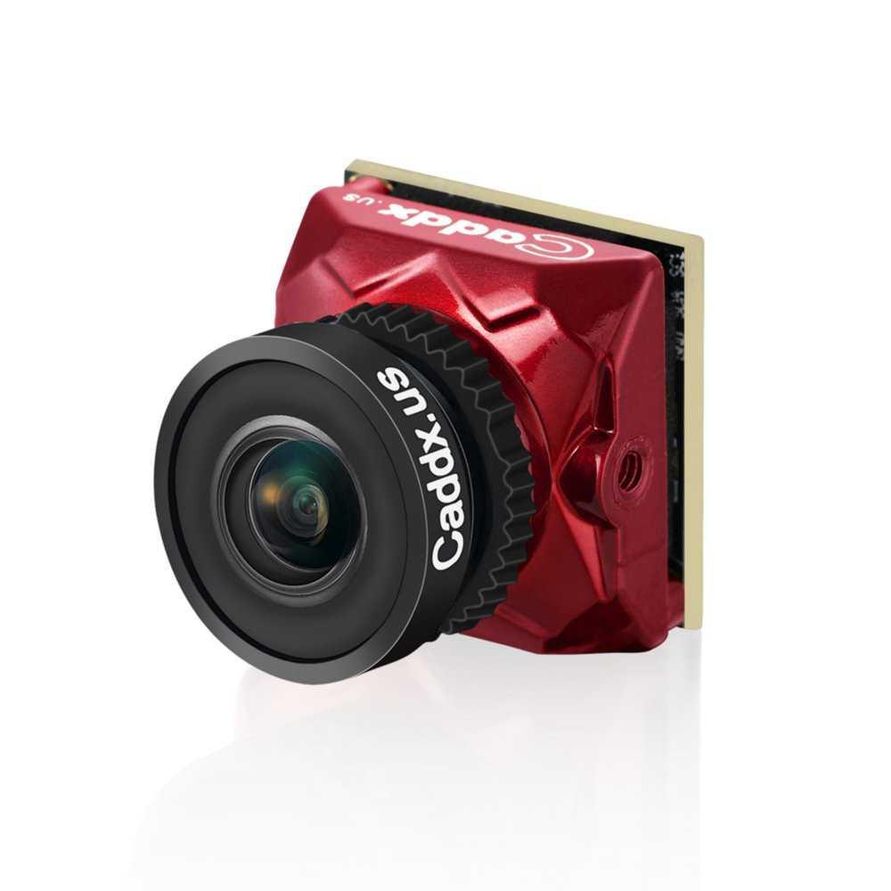 Caddx - Camera FPV Mod. Ratel Sensore 1/1.8'' HDR OSD 1200TVL NTSC/PAL 16: 9/4:3 Lente 2.1mm - Colore Rosso