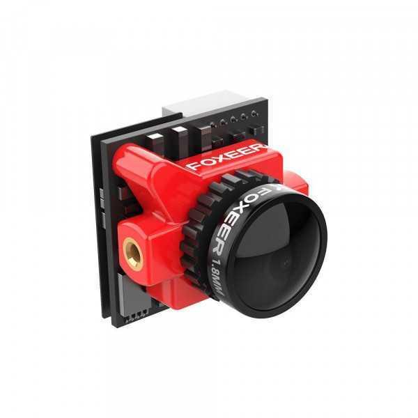 Foxeer - Falkor 2 Micro 1200 TVL G-WDR OSD 1.8 mm NTSC/PAL 4:3/16:9 FPV Camera - Colore Rosso