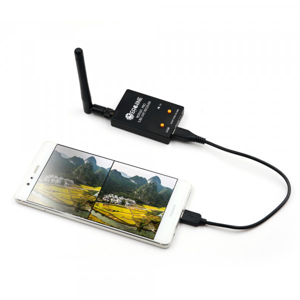 Eachine ROTG01 Pro UVC - Ricevitore OTG FPV 5.8 GHz 150CH per dispositivi Android