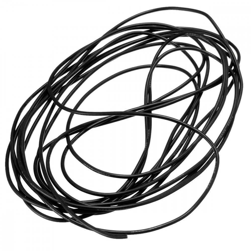 DANIU - Cavo flessibile al Silicone di metri 5 - 20AWG - Colore Nero