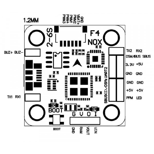 F4 NOXE Betaflight Mini Flight Controller AIO OSD BEC Filtro LC - Versione Acro