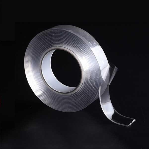 Nastro biadesivo trasparente - 2M 1.0mm lavabile riutilizzabile