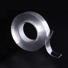 Nastro biadesivo trasparente - 5M 1,0 millimetri lavabile riutilizzabile
