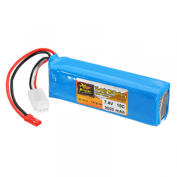 ZOP Power - Batteria LIPO 3000mah 7.4V 10C 2S1P