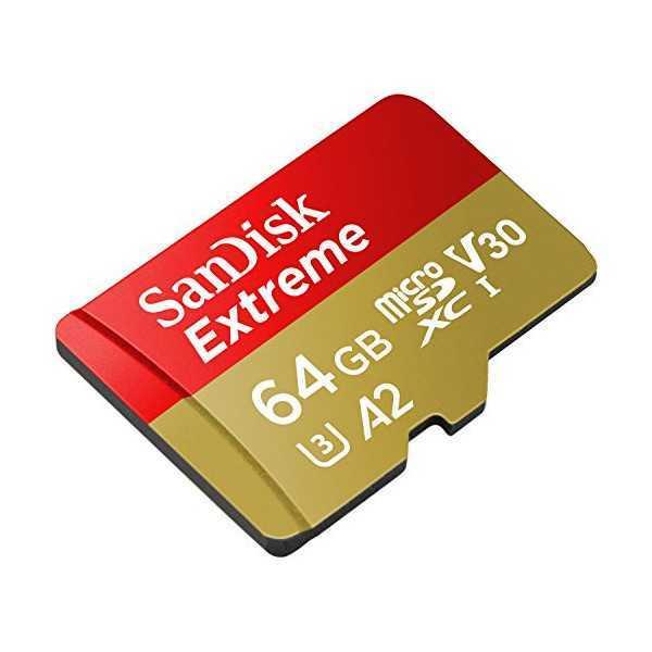 SanDisk Extreme Scheda di Memoria microSDXC da 64 GB V30 A2