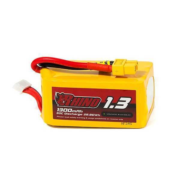 Rhino - Batteria LiPo 1300mAh 6S 50C w/XT60