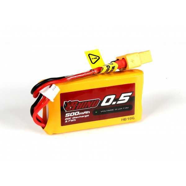 Rhino - Batteria LiPo 500mAh 2S 20C w/XT60