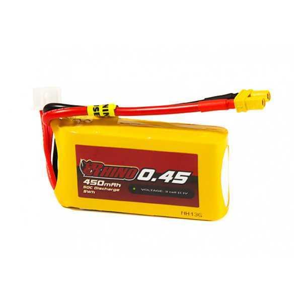 Rhino - Batteria LiPo 450mAh 3S 50-100C - XT30