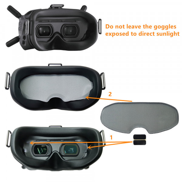 URUAV - Parasole per Goggles DJI FPV Digital System