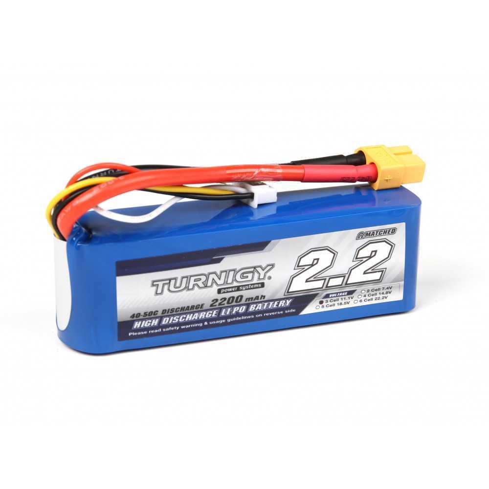 TURNIGY - Batteria LiPo 2200mAh 3S 40C