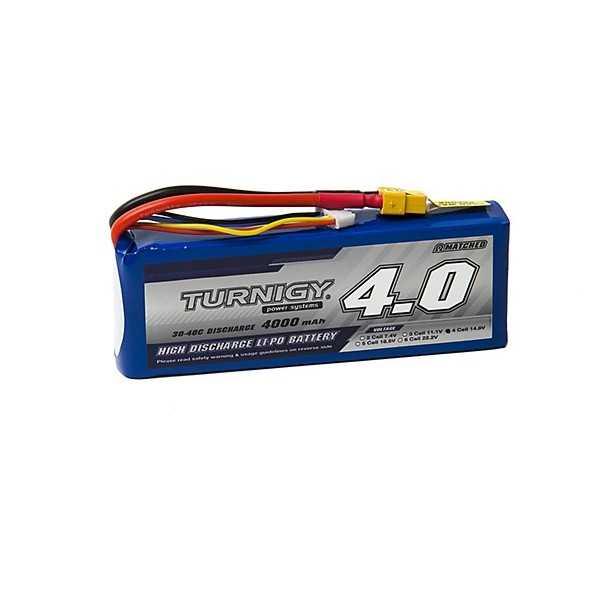 TURNIGY - Batteria LiPo 4000mAh 4S 30C - XT60