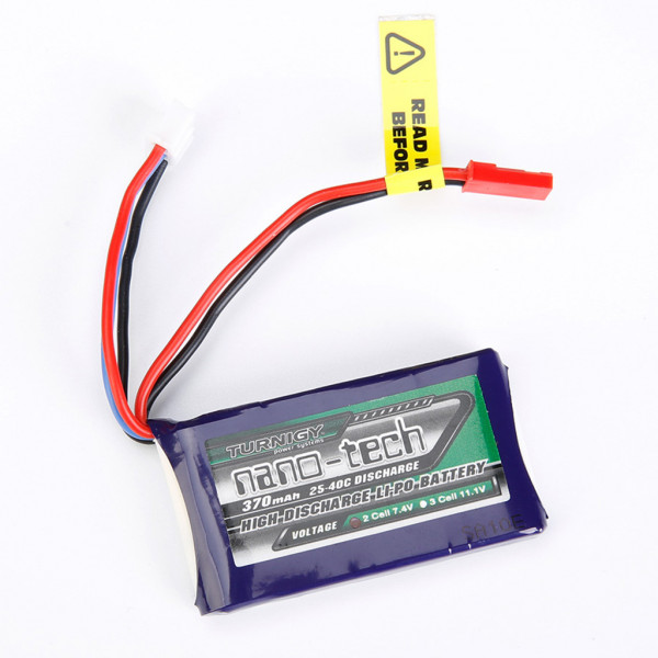 TURNIGY - Batteria LiPo 370mAh 2S 25C - Mini-JST