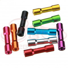 Suleve - Set M3AS12 - 4 Pz. Distanziali a colonna M3 25mm in Lega di Alluminio - Colore Nero