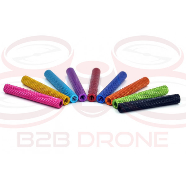 Flash Hobby - Set 10 Pz. Standoff M3 35mm in Lega di Alluminio per Droni FPV Racing - Colore Blu