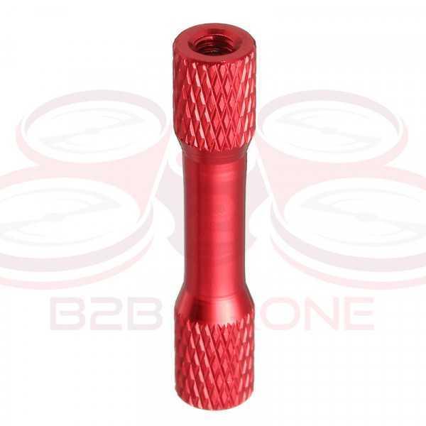 Flash Hobby - Set 10 Pz. Standoff M3 30mm in Lega di Alluminio per Droni FPV Racing - Colore Rosso
