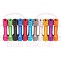 Flash Hobby - Set 10 Pz. Standoff M3 35mm in Lega di Alluminio per Droni FPV Racing - Colore Blu