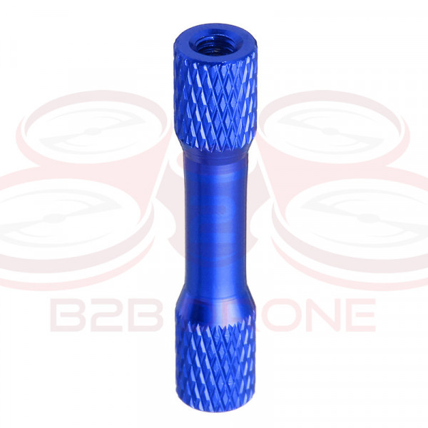 Flash Hobby - Set 10 Pz. Standoff M3 30mm in Lega di Alluminio per Droni FPV Racing - Colore Blu