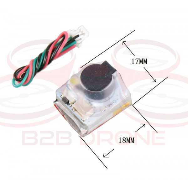 JHEMCU - Buzzer Finder 110dB 5V con batteria LiPo e LED per Droni Racer