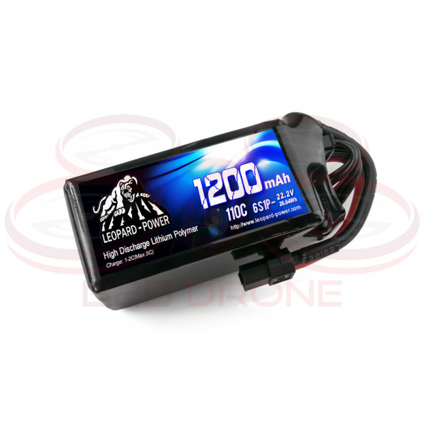Leopard Power - Batteria 110C 22.2V 6S1P LiPo - 1200mAh - XT60