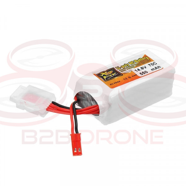 ZOP Power - Batteria LIPO 550mah 14.8V 70C 4S